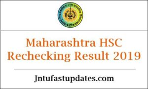 Maharashtra HSC Rechecking Result 2019