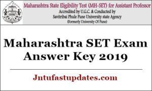 Maharashtra SET Exam Answer Key 2019