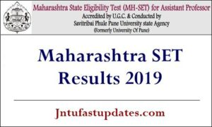 Maharashtra SET Results 2019