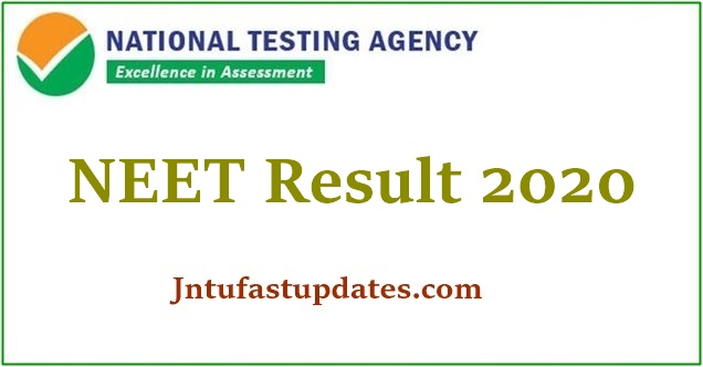 Neet Result 2020 Released Rank Card Air Cutoff Marks Score Merit List Ntaneet Nic In