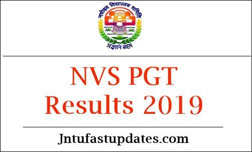 NVS PGT Results 2019