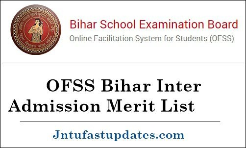OFSS Bihar Intermediate 1st Merit List 2020