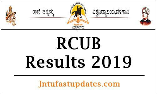 RCUB Even Semester Result 2019