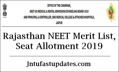 Rajasthan NEET 2nd Round Seat Allotment Result 2019 (Released