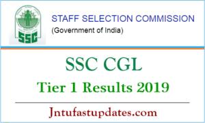 SSC CGL Tier 1 Result 2019