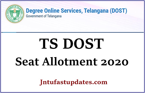 TS Dost Seat Allotment 2020