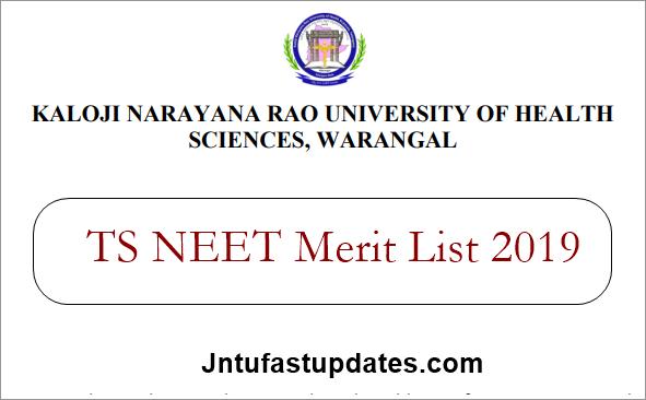 TS Neet merit List 2019