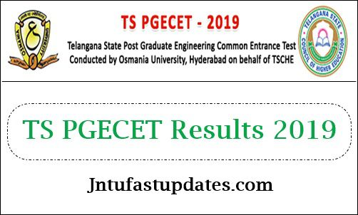 TS PGECET Results 2019