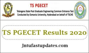 TS PGECET Results 2020