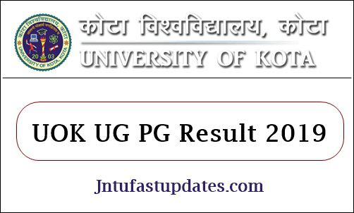 UOK Result 2019 (Declared) - Kota University BA B Com B Sc 1st 2nd