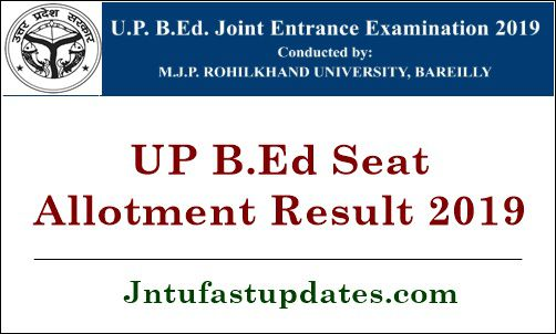 UP B.Ed Seat Allotment Result 2019