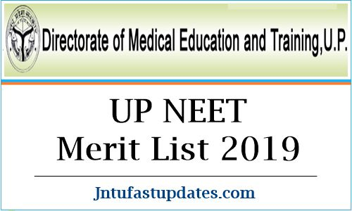 UP NEET Merit List 2019