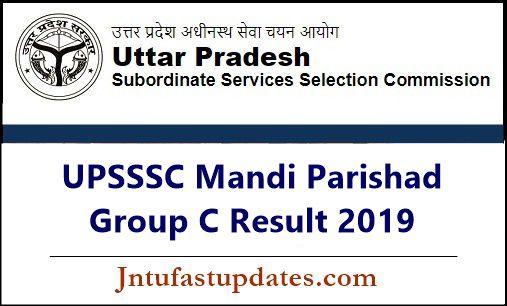 UPSSSC Mandi Parishad Group C Result 2019