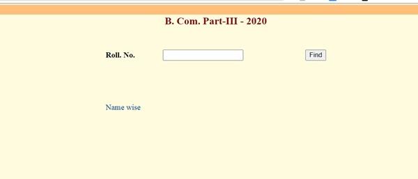 Uniraj B.Com Part 3 Result 2020