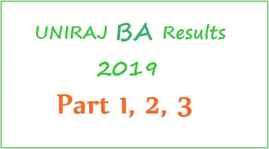 Uniraj BA 2nd Year Results 2019 (Released) - BA Part 2 Arts Results