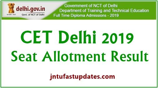 Delhi cet seat allotment 2019