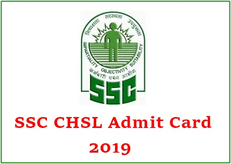 SSC CHSL Admit Card 2019