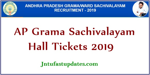 AP Grama Sachivalayam Hall Ticket 2019 (Released) - Download