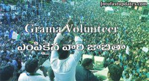 AP Grama Volunteer Results-merit list