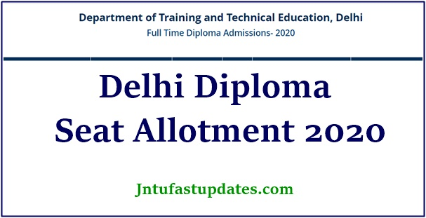 delhi diploma seat allotment result 2020