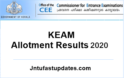 KEAM Trial Allotment Result 2020