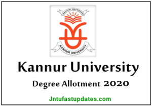 Kannur University Allotment 2020