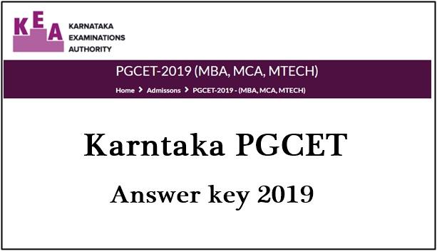 Karnataka PGCET Answer Key 2019