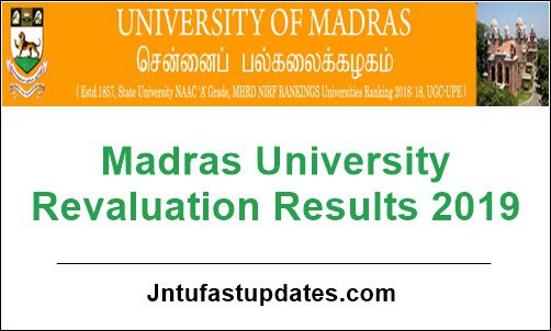 Madras University Revaluation Results 2019