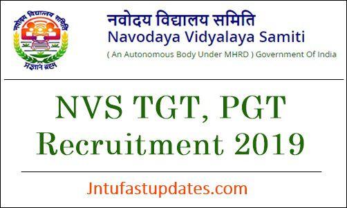 Navodaya Vidyalaya TGT PGT Recruitment 2019