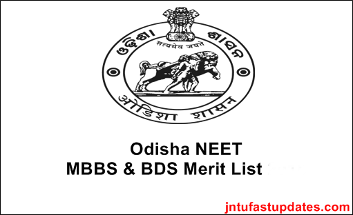 Odisha NEET Merit List 2019