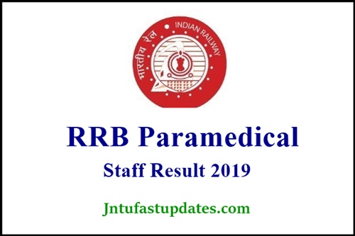 RRB Paramedical Staff Nurse Result 2019