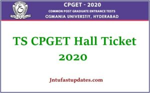 TS CPGET Hall Ticket 2020