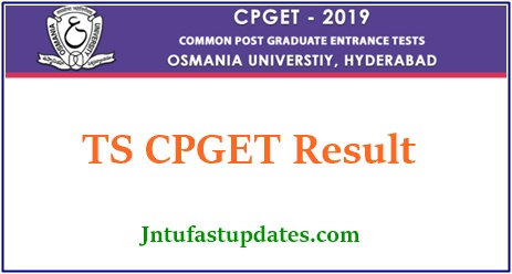 TS CPGET Result 2019 (Released) - OUCET PG Common Entrance Rank Card