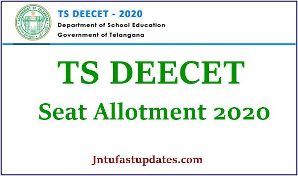 TS DEECET Seat Allotment 2020