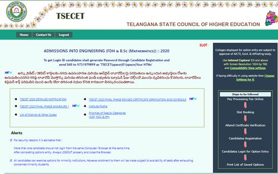 TS ECET Counselling 2020
