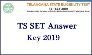 TS SET Answer Key 2019
