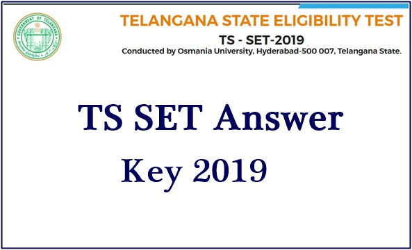 TS SET Answer Key 2019