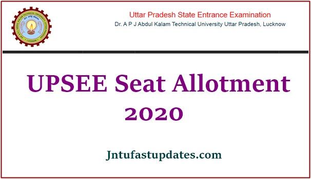 UPSEE Seat Allotment 2020