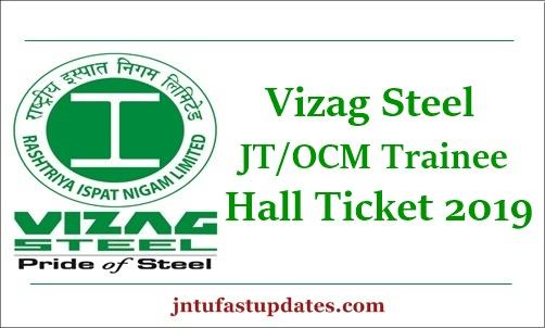 Vizag Steel Junior Trainee Admit Card 2019