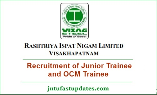Vizag Steel Plant Junior Trainee Notification 2019