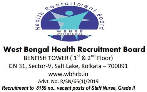 WBHRB Staff Nurse Recruitment 2019