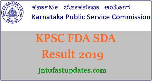KPSC FDA SDA Result 2019