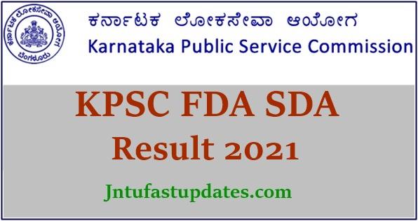 KPSC FDA SDA Result 2021