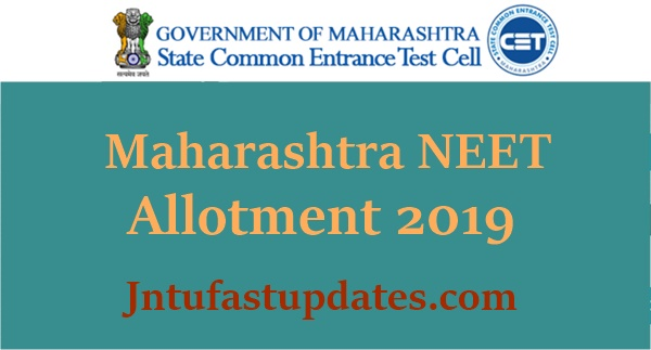 Maharashtra NEET 2nd Round Seat Allotment Results 2019