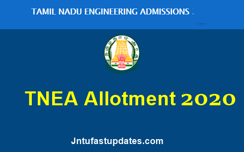 TNEA Allotment 2020
