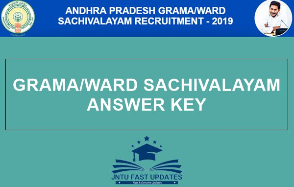 AP Grama Sachivalayam Answer Key 2019