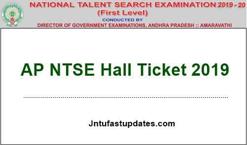 AP NTSE Hall Ticket 2019