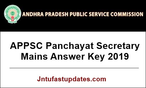 APPSC Panchayat Secretary Mains Answer Key 2019