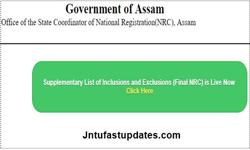 Assam NRC Final List Result 2019