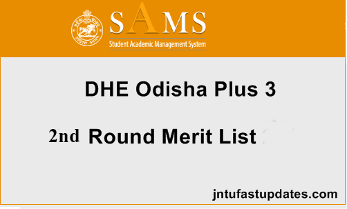 Odisha Degree +3 2nd Selection Merit List 2019